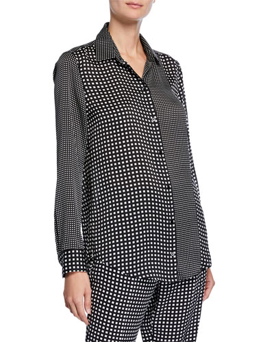 Essential Grid-Pattern Button-Down Shirt