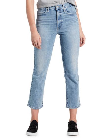 Levi's Premium Mile High Cropped Flare-Leg Jeans