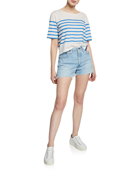 Levi's Premium 501 High-Rise Cutoff Denim Shorts