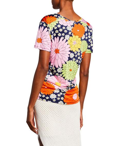 Dodo Bar Or Ida Floral-Print Short-Sleeve T-Shirt