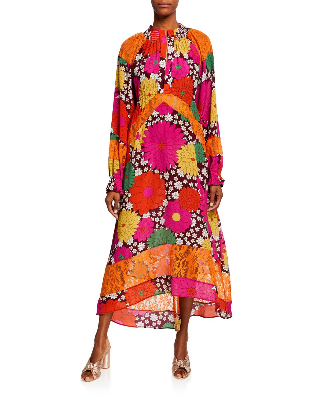 Dodo Bar Or Skirt.Renne Floral Long Sleeve Midi Dress