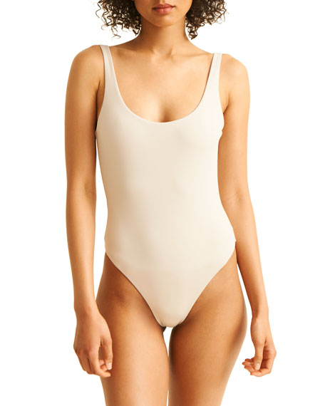 Skin The Lana Scoop-Back Maillot One-Piece Swimsuit