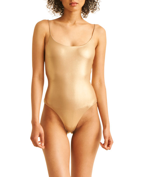 Skin The Sloane High-Cut Maillot One-Piece Swimsuit