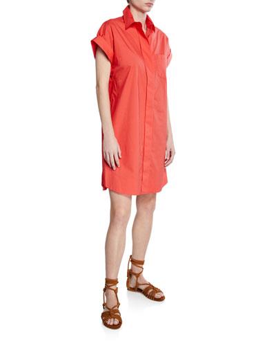 Charlie Button-Front Short-Sleeve Dress  Plus Size
