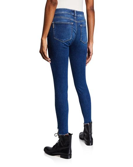 PAIGE Verdugo Ankle Skinny Jeans w/ Raw Slit Hem