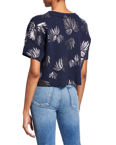 cinq a sept Amal Pullover Cropped Top