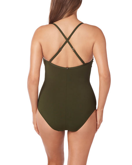 Amoressa by Miraclesuit Eclipse Cross-Back Control One-Piece Swimsuit