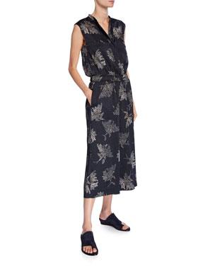 54d84303b6b2 Vince Woodblock Floral Sleeveless Jumpsuit