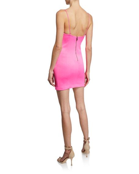 Alice + Olivia Nelle Fitted Spaghetti Strap Mini Dress