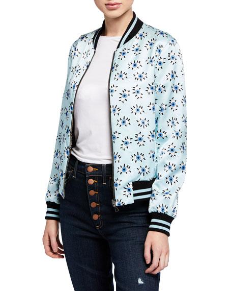 Alice + Olivia Lonnie Reversible Bomber Jacket