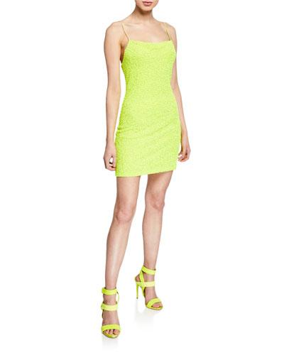 Harmie Sequin Cowl-Neck Mini Cocktail Dress