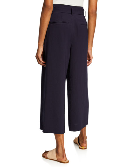 Vince Belted Cropped Culotte Pants