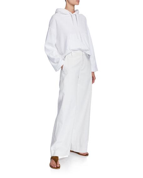 Vince Market Wide-Leg Cotton-Linen Pants