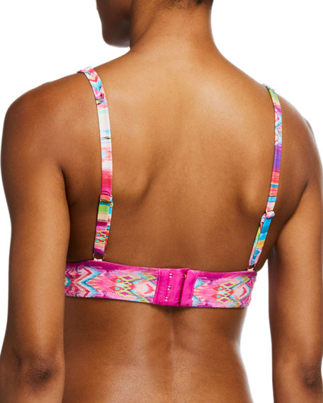Johnny Was Lucia Printed Triangle Bikini Top