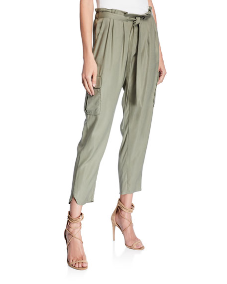 Ramy Brook Allyn Drawstring Pants with Utility Pockets