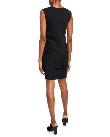 Image 2 of 2: Majestic Filatures Crewneck Sleeveless Shirred Dress