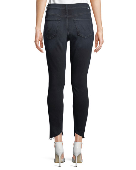 MOTHER Stunner Zip Two Step Fray Skinny Jeans