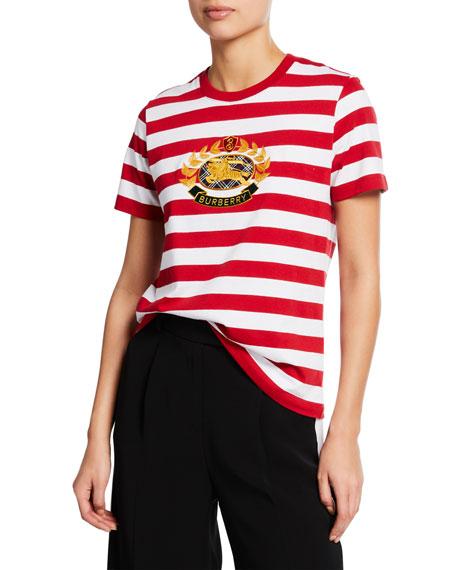 Burberry Bulkley Stripe Crest Tee