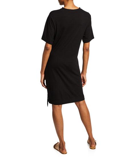 Vince Asymmetric Side-Tie Tee Dress