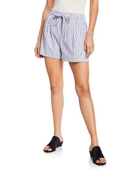 Vince Pull-On Striped Shorts