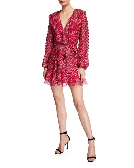 La Maison Talulah Promise Floral Pleated Ruffle Mini Dress