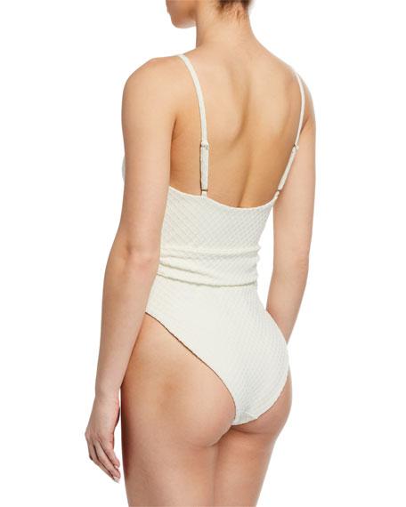 Mara Hoffman Gamela Belted High-Cut One-Piece Swimsuit