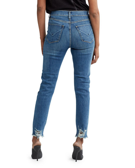 Hudson Holly High-Rise Cropped Jeans with Side Patches