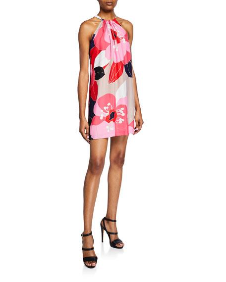 Trina Turk Rancho Narcissus Floral-Print Halter Dress