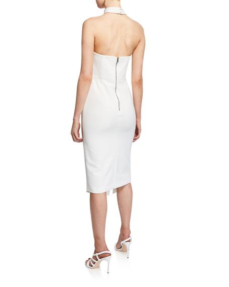 Alice + Olivia Sia Strapless Choker Dress