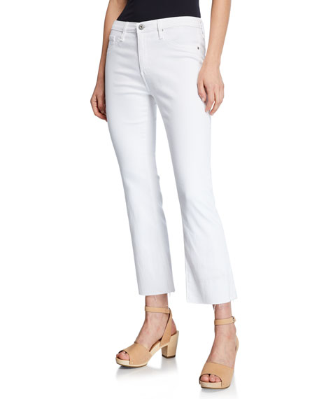 AG The Jodi Crop Flare-Leg Jeans with Raw Hem