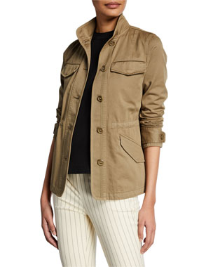 3c60aa77a4c72d Rag   Bone Daniella Washed Button-Front Utility Jacket