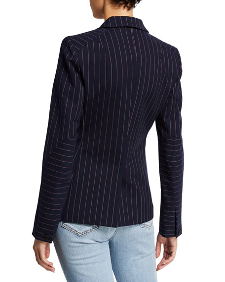 Rag & Bone Lexington Striped One-Button Blazer