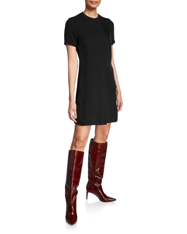 79a339259af3 Rag & Bone Aiden Double-Vented Crewneck T-Shirt Dress | Neiman Marcus