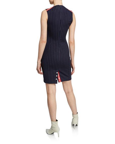 Rag & Bone Lexi Striped V-Neck Sleeveless Dress