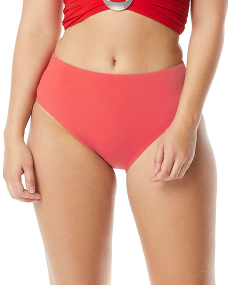 Coco Contours by Coco Reef High-Waist Solid Bikini Bottoms