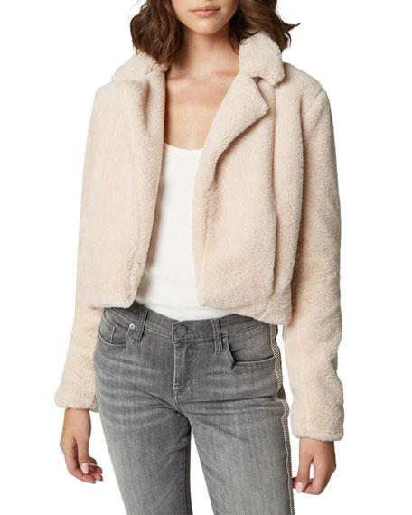 Blank NYC Cropped Faux-Fur Jacket