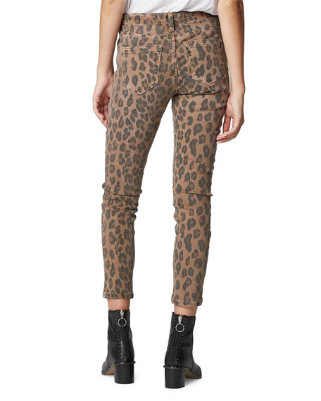 Blank NYC The Reade Cropped Leopard-Print Skinny Jeans