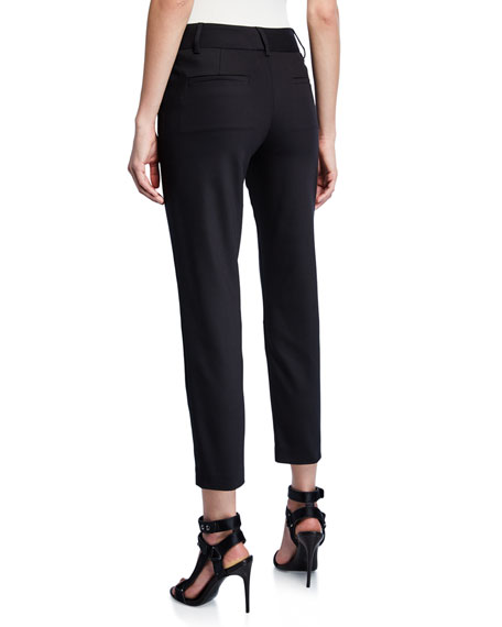 Image 2 of 3: Alice + Olivia Stacey Slim Straight-Leg Cropped Trousers