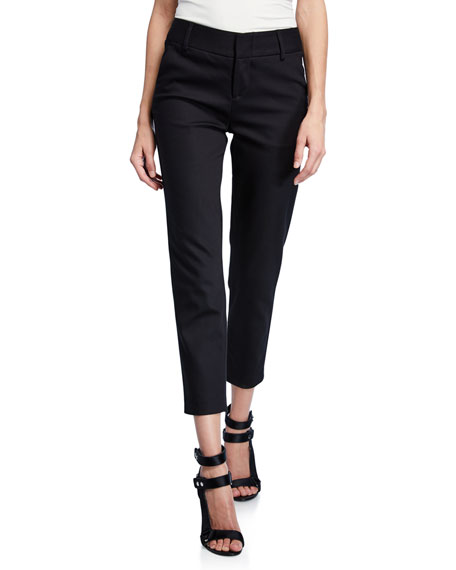 Image 1 of 3: Alice + Olivia Stacey Slim Straight-Leg Cropped Trousers