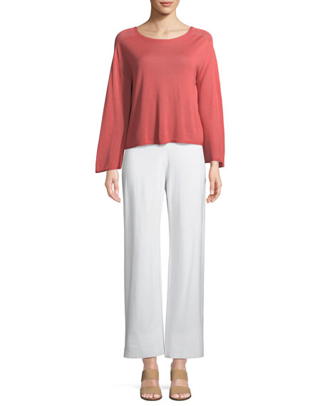 Plus Size Washable Stretch Crepe Modern Straight-Leg Pants