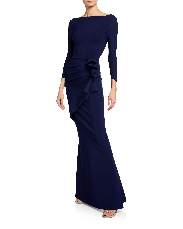 ea40a301b9dd4 Chiara Boni La Petite Robe Zelma Side-Draped Mermaid Gown