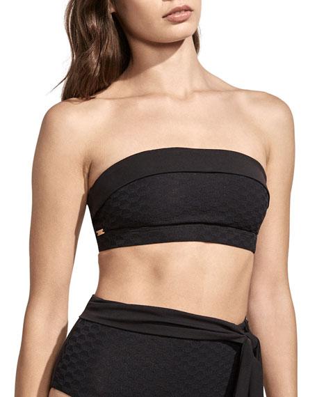 Amaio Swim Sabine Jacquard Bandeau Bikini Top