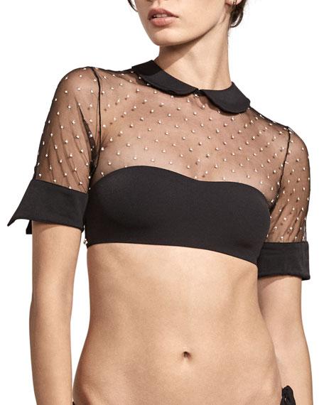 Amaio Swim Bella Collared Mesh Bikini Top