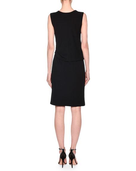 Giorgio Armani Sleeveless Draped Milano Jersey Dress
