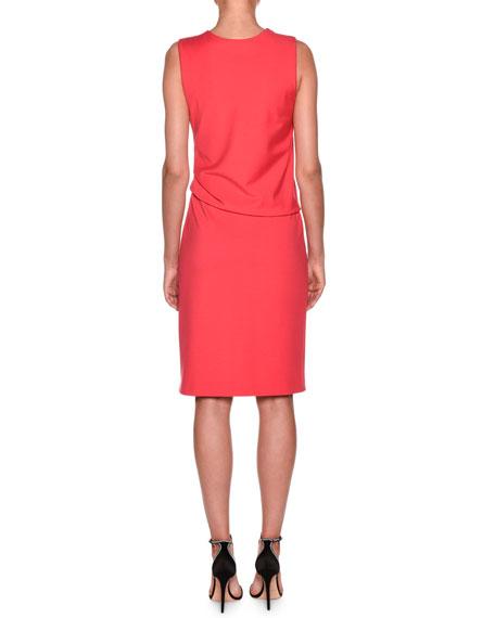 Giorgio Armani Milano Jersey Sleeveless Popover Dress