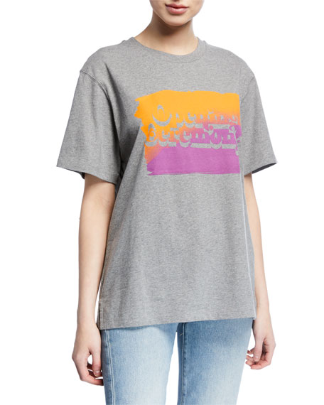 Opening Ceremony Unisex Cotton T-Shirt with Ombre OC Logo