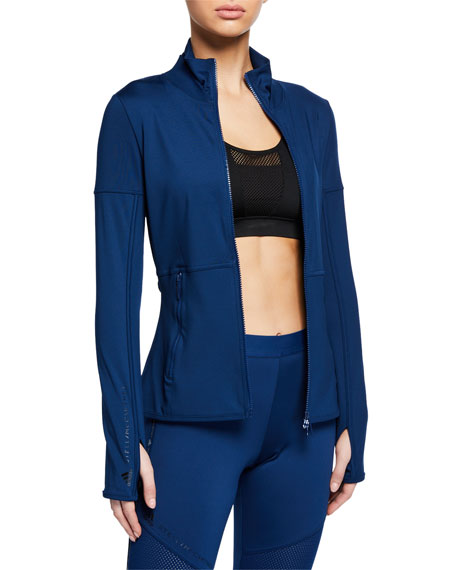 adidas by Stella McCartney Performance Essentials Mid-Layer Zip-Front Active Top