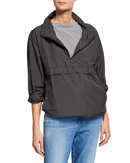 Eileen Fisher Plus Size Organic Cotton/Nylon Pullover Jacket