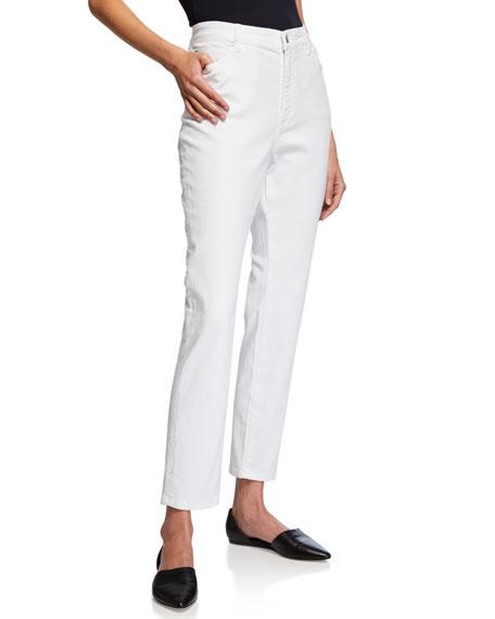 Eileen Fisher Petite Organic Cotton Stretch High-Waist Skinny Jeans
