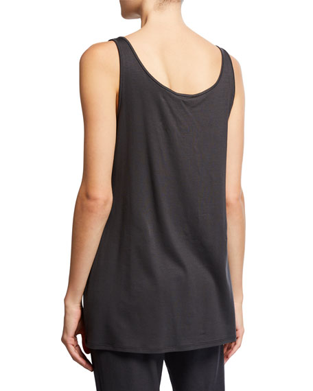 Image 3 of 3: Eileen Fisher Scoop-Neck Long Jersey-Knit Tank